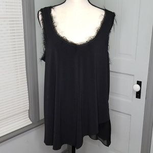 Rachel Roy Frayed Tank